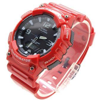 c725235b61b2 Reloj Casio Para Hombre AQ-S810WC-4A Rojo Dial Negro Con Funcionamiento A  Energía