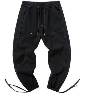 Modernos Pantalones De Varios Bolsillos Para Hombre Con Lazo En Los Tobillos Y Cintura Suave Regalo Perfecto Para Hombre Cui Black Linio Peru Ge582sp1g0ox7lpe