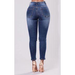 be3b8d945d6 Tallas grandes bordado Jeans Mujer 2018 Jeans rasgados para mujer