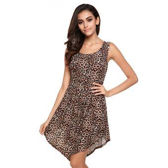 d3d4b6266 Vestido De Fiesta Zeagoo Basico Para Mujer-Leopardo Para Mujer