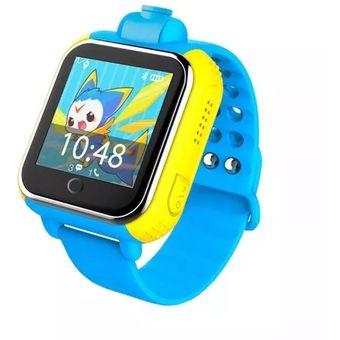 44c0802e0 Compra Reloj Celular Android Localizador Gps Para Niños Q100 Azul ...