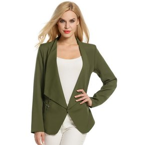 65c852123aab0 Blazer Estructura Para Mujer-Verde Del Ejército