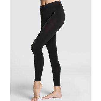 Leggins Pantalon Termico Frio Invierno Ropa Termica Forro En Fleece - Negro  Liso 5284ab0d9a58
