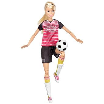 Compra Barbie Jugadora De Fútbol Mattel online  3c9c818ad1121