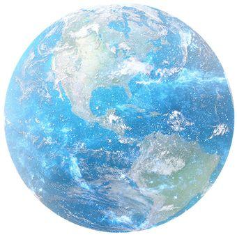 Mouse Pad Redondo De Dibujos Planeta Tierra Azul