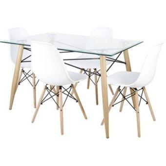 Compra Juego de comedor 4 sillas-Blanco online | Linio México