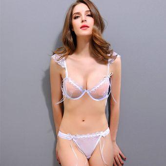 Elegant Ropa Interior Sexy Transparente Cordón Mujer Blanco