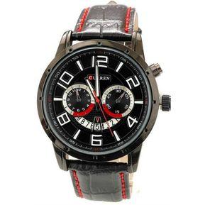 672604c6ad3f Relojes Caballero Curren 8140 Hombres De Negro Elegante Relojes Caballero De  Pulsera De