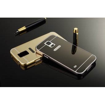 7fddeff1e3d Case Funda Bumper Aluminio Tipo Espejo Metálico Protector Para Samsung S4