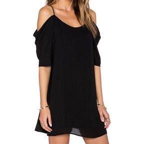 Vestidos cortos casuales color negro