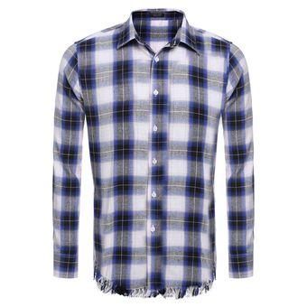 b3d14cb0847df Compra Camisa A Cuadros Para Hombre-Azul online