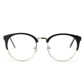 Agotado Nuevo Marcos ópticos Metal Gafas Redondo Los Anteojos Hipster  Miopía -Negro + Plateado 71a87438f235