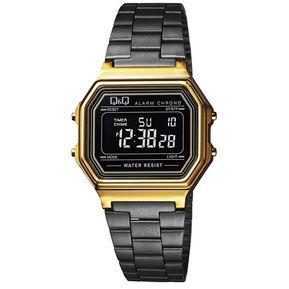 ee73409f39a46 Reloj Q Q M173J004Y Retro Classic Collection Digital Multifunción-Negro