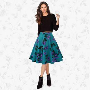 fff4a47591 Vintage de mariposa del vestido de la impresión de la falda de medio cuerpo  femenino 2017