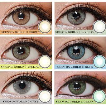 2c6aeb99f0 2PC/SET Ojo Grande Agrandar Cosméticos Maquillaje De Ojos Gran Ojo Lentes  De Contacto De