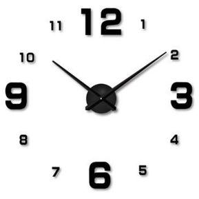 bd051748eecf DIY Reloj de pared silencioso Números arábigos creativos - Negro