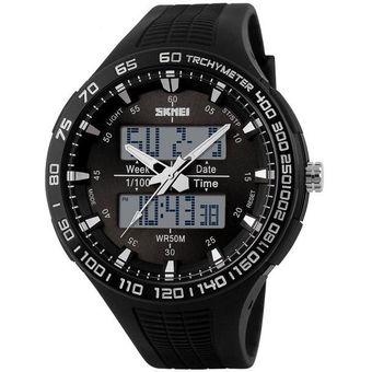 Compra Relojes Hombre Reloj Militar Impermeable De Moda-Negro online ... 495df63e9ebd