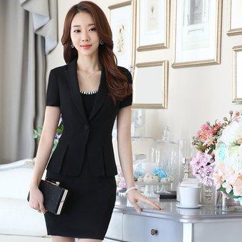 7400af909 Trajes Para Mujer Faldas Y Sacos Formales De Oficina Y Negocio - Negro