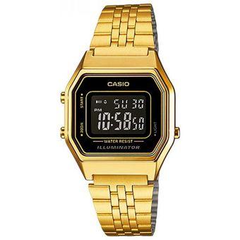 20f0e0eb9d76 Compra Reloj Casio Vintage LA680WGA-1BDF LA680 -Dorado Negro online ...