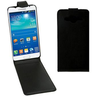 94bef9dd436 Vertical Flip Magnetic Snap - Funda De Cuero Para Samsung Galaxy Core II /  G355h (