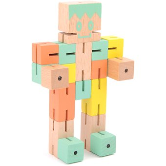 De Madera Multicolor Robot 360dsc Juguete thBsCoxQrd