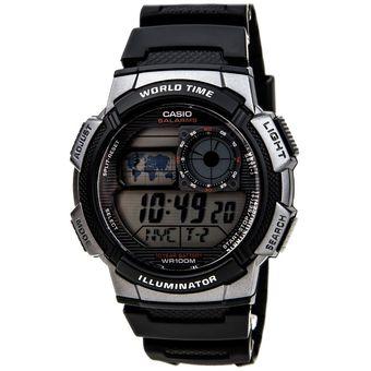 a450e37b67d1 Compra Reloj Casio AE-1000W-1B Para Caballero Negro  Plateado ...
