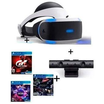 Casco Realidad Virtual Sony Ps4 Vr +2 Juegos Nuevo Modelo V2