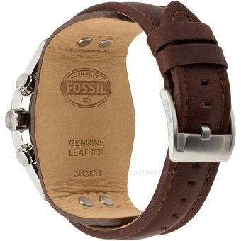 5c15561c16bd Compra Fossil Reloj Analógico Coachman CH2891 Cuero Marron Negro ...