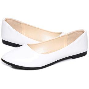 BX zapatos de mujer Tip-puntera plana blanca talones 1a388c726b8f