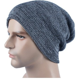 Autumn Winter Stripe Tejer Sombrero Calido Gorro De Lana (Light Grey) 6efaed5886a
