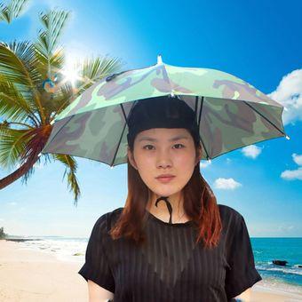 Agotado EW Plomo Y Plata Cinta Elástica Sombrero Soleado Paraguas-Camuflaje 8a2e1b13f92