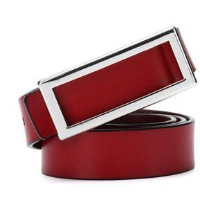 Cinturón de mujer Cinturón de cuero salvaje Correa coreana-105CM-Rojo 8768d303b53f