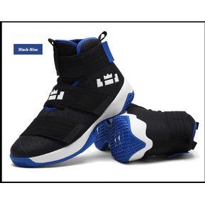 8443368525 Zapatillas De Baloncesto Hombre Zapatos Hombre Ultra Zapatillas-Negro y azul