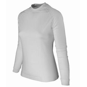 Mujer Trevo Blanca Frizada Camiseta Interior Termica wOkn0P