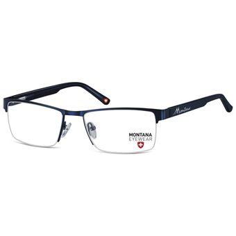 192a42b402666 Monturas Montana Oftálmicas Livianas Marco Metálico Para Lentes Opticos  Formulados - Gafas MM622E - Azul