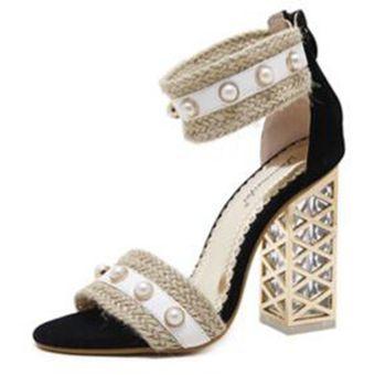 Compra Sandalias De Tacón Alto Delgadas Mujer Sexy Sandals-Negro ... 2ffba908363d