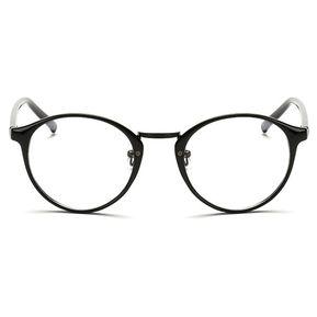 789dc0a515 Agotado Vintage ópticos Gafas Redondo Los Anteojos Grande Marco Uni  Estudiante Miopía -Negro