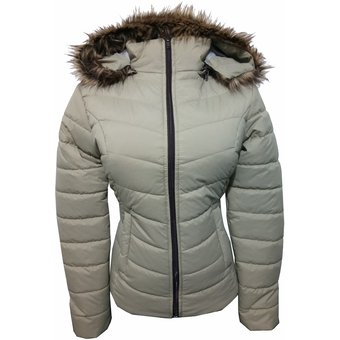 Compra CHAQUETA PARA MUJER LEBEFY CON PELUCHE BEIGE online  581d6d6ff490
