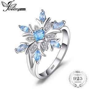 5f10d284a412 Anillo De Promesa Jewelrypalace Genuine Topacio Azul 925 Plata Esterlina