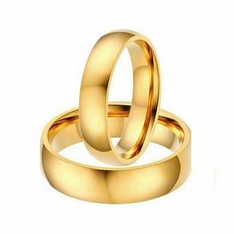 ede4a9af7248 Aros De Matrimonio. Unisex. JOYAS LUCYANA. Enchapados En Oro Amarillo 18K
