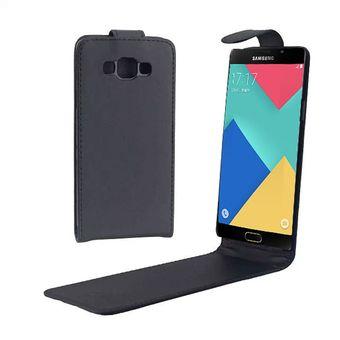 2858406483f Vertical Flip Magnetic Snap - Funda De Cuero Para Samsung Galaxy A7 / A700f  (negro