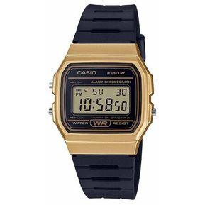 2fe205f9ca8b Reloj Casio F91w Caballero Retro Vintage- Negro Con Dorado