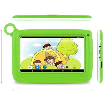 19db0c8cb0 Compra Tablet Niños KIDS Android Funda SIlicona + Gafas Verde online ...
