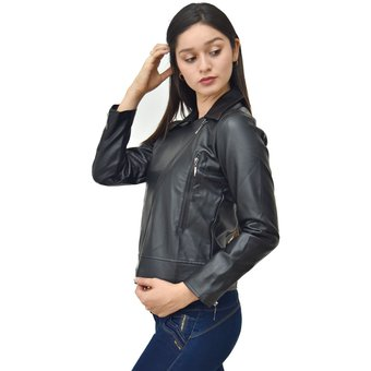 Compra Zehn Clothing - Casaca Cruzada Mujer - Negro online  b6b532d67901