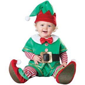 6317b60eb Bebé Niños Y Niñas Disfraz De Cosplay De Halloween - Duende De Navidad