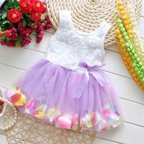 c7c3b72d04b40 Vestido Para Mujer Petals Bebé Niña Vestido De Chaleco E-thinker - Morado
