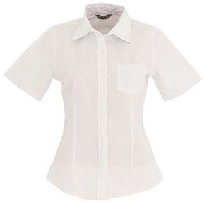 Blusa Dama Manga Corta Oxford Mujer Uniforme Empresarial Ejecutivo Oficina  Color-Blanco 981b9f2495a0b