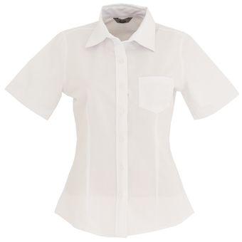 ee3ca3078c Blusa Dama Manga Corta Oxford Mujer Uniforme Empresarial Ejecutivo Oficina  Color-Blanco