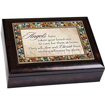 Cottage Garden Confirmation Woodgrain Inspirational Music Box Plays Friend in Jesus MBC7024S