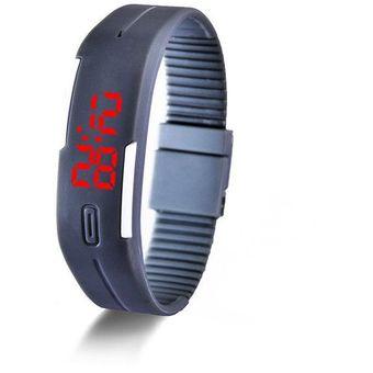 9ebdccd22370 Compra Reloj Pulsera LED Para Deportes Pulsera Digital Unisex-Gris ...